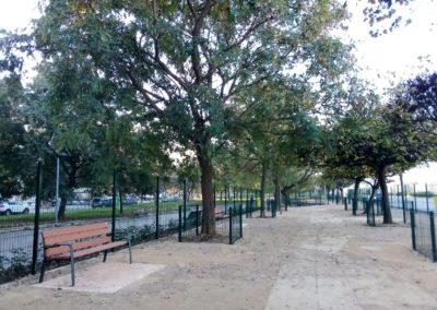 Construcción parque de socialización canina Valencia vista 1