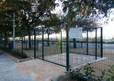 Construcción parque de socialización canina Valencia vista 2