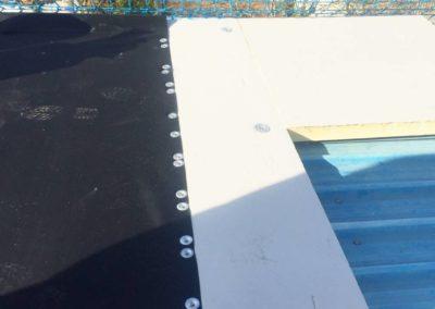 Doblado de cubierta polideportivo Siete Aguas vista 1