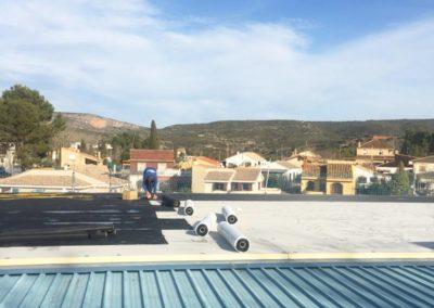Doblado de cubierta polideportivo Siete Aguas vista 4