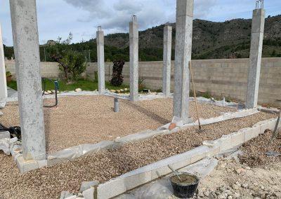 Construcción de vivienda en Valencia cimientos 4