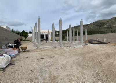 Construcción de vivienda en Valencia cimientos 1